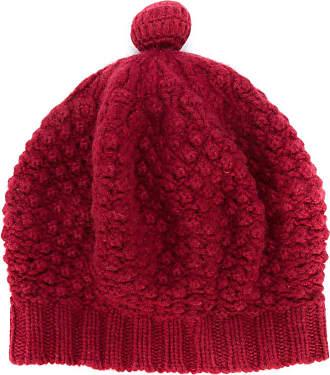 N.Peal bramble stitch cashmere beret - Red