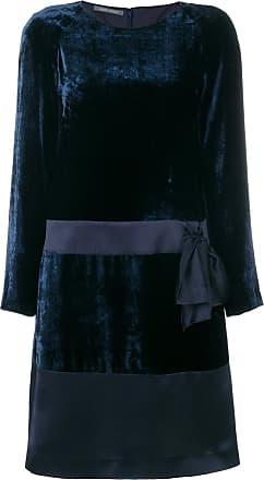 377b52fb14d18b Alberta Ferretti bow-embellished velvet dress - Blue