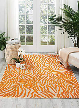 Nourison Aloha Orange Rectangle Area Rug, 7-Feet 10-Inches by 10-Feet 6-Inches (710 x 106)