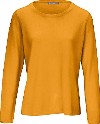 include Round neck jumper in pure new wool and cashmere include yellow