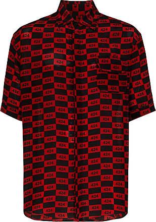 424 Kariertes Hemd mit Logos - Rot