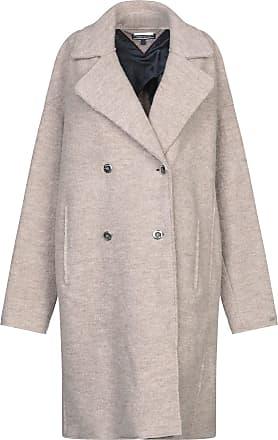 Manteaux & Vestes Tommy Hilfiger – Femme Manteau à capuche en laine Light Grey Htr Femme, Manteaux & Vestes