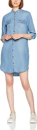 Vero Moda Womens Vmsilla Ls Short Dress Lt Bl Noos Ga, Blue (Light Blue Denim Light Blue Denim), 16 (Size: X-Large)