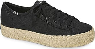Keds Womens Triple Kick Jute Sneaker, Black, 10 M US