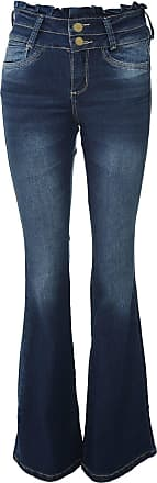 Sawary Calça Jeans Sawary Flare Estonada Azul