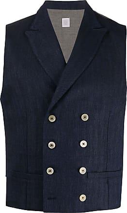 Eleventy double breasted waistcoat - Blue