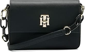 85ec76dbc8c Tommy Hilfiger Th Saffiano Mini Crossover, Womens Cross-Body Bag, Black,  1x1x1