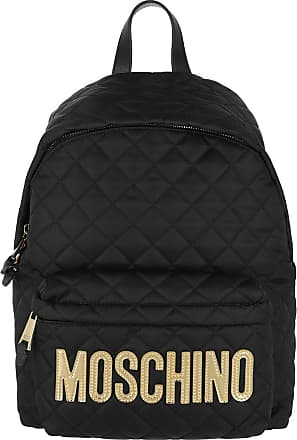 Moschino Backpacks - Quilted Logo Backpack Black - black - Backpacks for ladies