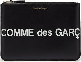 Comme Des Garçons Comme Des Garçons Wallet - Logo-print Leather Pouch - Mens - Black