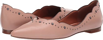 8cd49f78184c25 Coach Vivian Pointed Toe Flat with Tea Rose Studs (Pale Blush Leather) Womens  Flat