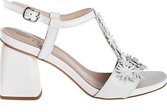 Jeannot sandalo tacco grosso, 36 / bianco