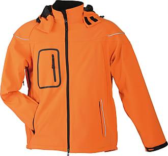 James & Nicholson Mens Mao Long Sleeve Jacket - Orange - X-Large
