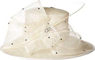 272ceaeaff385 Scala Womens Big Brim Sinamay Hat with Rhinestones (Ivory)