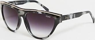 Quay Flight Risk - Sonnenbrille in Schildplattoptik, Schwarz und Weiß