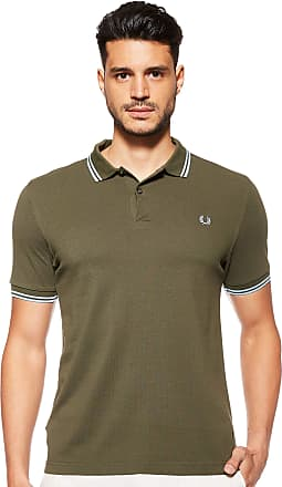 Fred Perry Mens Twin Tipped Shirt Polo, Forest Night, S