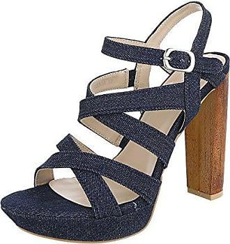 add787450eaa Ital-Design High Heel Sandaletten Damen-Schuhe Plateau Pump High Heels  Schnalle Sandalen