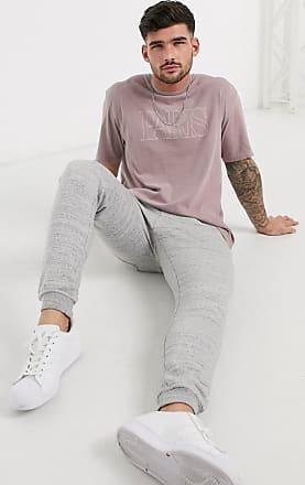 Topman Paris - Oversize-T-Shirt in verwaschenem Rosa