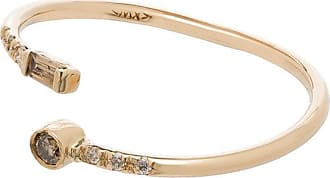 Xiao Wang Anel Gravity Wrap de ouro 14k com diamante - YELLOW GOLD