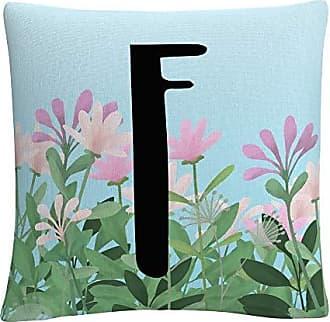 Trademark Fine Art Pink Floral Garden Letter Illustration F by ABC