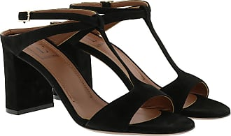 L'autre Chose Sandals - Suede Heel Black - black - Sandals for ladies
