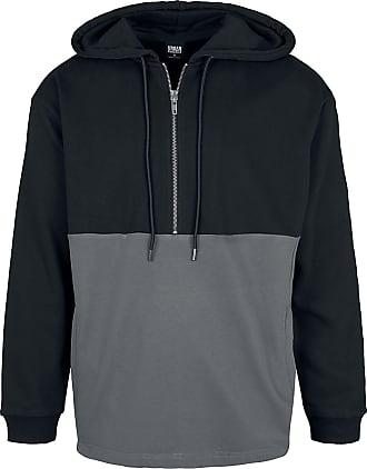 Urban Classics Relaxed Half Zip Hoodie - Kapuzenpullover - schwarz, grau