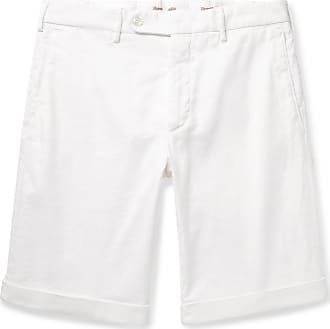 Zanella Chase Stretch-linen And Cotton-blend Twill Shorts - White