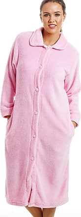 Camille Womens Various Button Housecoats 14/16 Pink