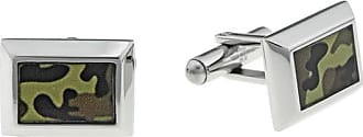 Zales Mens Olive Camouflage Stainless Steel Cuff Links