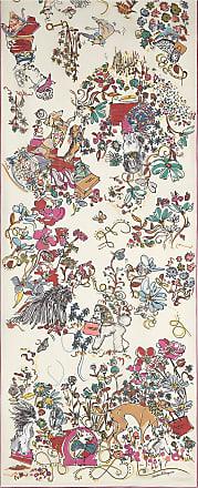 Salvatore Ferragamo Women Comic print silk scarf White