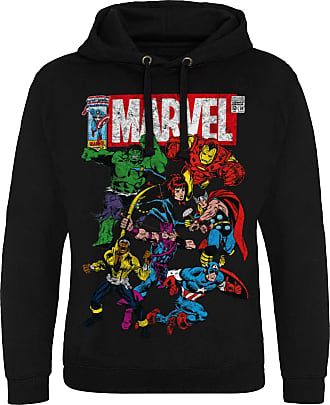 MARVEL Officially Licensed Comics - Team-Up Epic Hoodie (Black), XX-Large