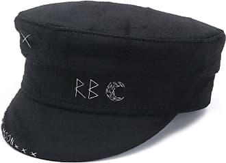 Ruslan Baginskiy embroidered baker boy hat - Preto