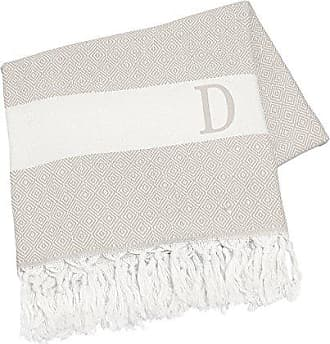 Cathy's Concepts Personalized Turkish Throw, Letter D, Beige