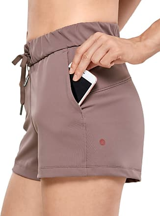 CRZ YOGA Womens Medium Rise Relaxed Fit Sports Shorts with Pockets -2.5 Inches Mauve 12
