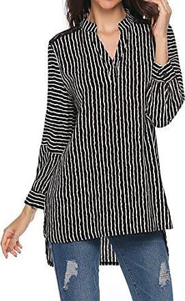 ac54b028c8ca7 Parabler Damen Bluse Elegant Chiffon V-Ausschnitt 3/4 Arm Casual Shirt Tops  Oberteile