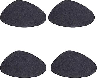 Hey-Sign Stone Tischset 4er Set 34x29cm - graphitgrau/Filz in 5mm Stärke/LxBxH 34x29x0.5cm