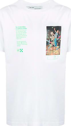 Off-white Camiseta blanca con gráfico