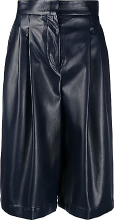 Philosophy di Lorenzo Serafini faux leather knee-length shorts - Blue