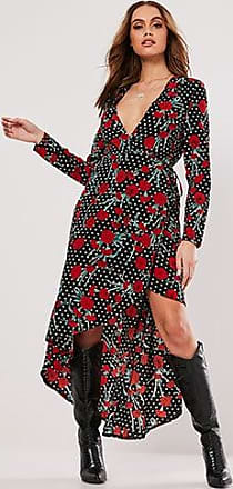 Missguided High-Low Rose Print Dress at Forever 21 Black/multi