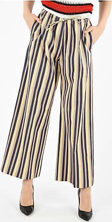 Dries Van Noten Striped Elastic Waist Pants Größe 42