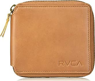 Rvca Mens Zip Around Wallet, tan, One Size
