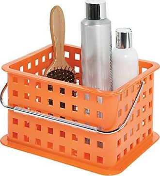InterDesign Storage Organizer Basket, for Bathroom, Health and Beauty Products - Small, Orange