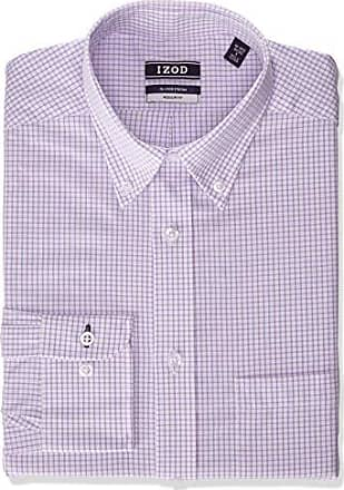Izod Mens Dress Shirts Regular Fit Stretch Plaid