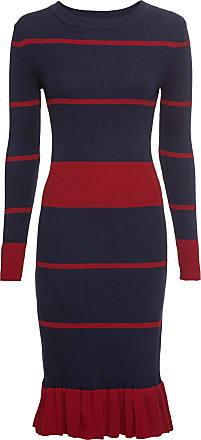 BODYFLIRT boutique Dam Stickad klänning i blå lång ärm - BODYFLIRT boutique 641b7f033cd25