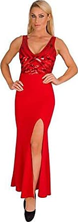 Neu Schößchen Fest Kleid Party Minikleid Pailletten Abendkleid Rot 34 36 38