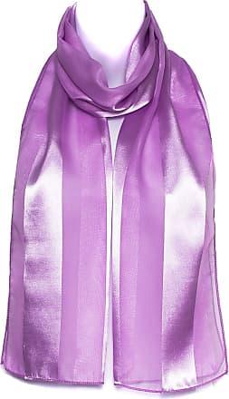 Hat To Socks Lilac Chiffon Satin Plain Striped Elegant Ladies Womens Scarf Shawl Wrap