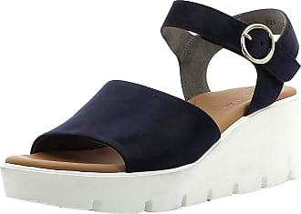 Paul Green Women Sandals 7366, Ladies Wedge Sandals, Wedge Sandals,Summer Shoes,Comfortable,high,Saphir,38.5 EU / 5.5 UK