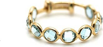 Tresor Blue Topaz Stackable Ring Band in 18kt Yellow Gold - UK N - US 6 1/2 - EU 54