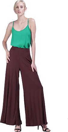 Amazônia Vital Calça Pantalona Avila Marrom Cor:Marrom;Gênero:Feminino;Tamanho:GG