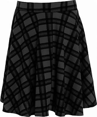 4327b1d881d Generic New Womens Flippy Skirt Plus Big Size Plain Skirt Tartan Skater  Skirt UK 14-