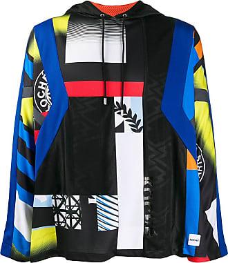 Koché printed panel hoodie - Azul